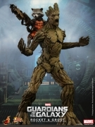 Hot Toys GUARDIANS Of The GALAXY ROCKET & GROOT Set