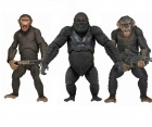 Neca DAWN of The PLANET Of The APES set x3 Figures