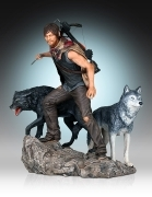 Gentle Giant DARYL DIXON and WOLVES Walking Dead STATUE