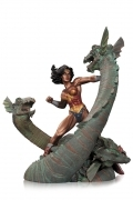 DC Wonder Woman vs Hydra STATUE Mini Patina