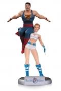 Bombshells POWER GIRL & SUPERMAN Statue DC