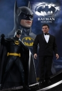 Hot Toys BATMAN RETURNS + Bruce Wayne KEATON Figures SET