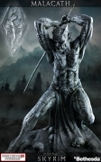 Gaming Heads ELDER SCROLLS V Skyrim O Shrine MALACATH Statue