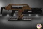 Aliens PULSE RIFLE WEATHERED Brown Bess HOLLYWOOD COLLECTIBLES