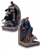 DC SUPERMAN & BATMAN BOOKENDS Statue